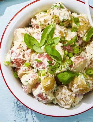 creamy basil potato salad